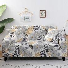 Sofabezug mit Blatt Muster ohne Kissenbezug