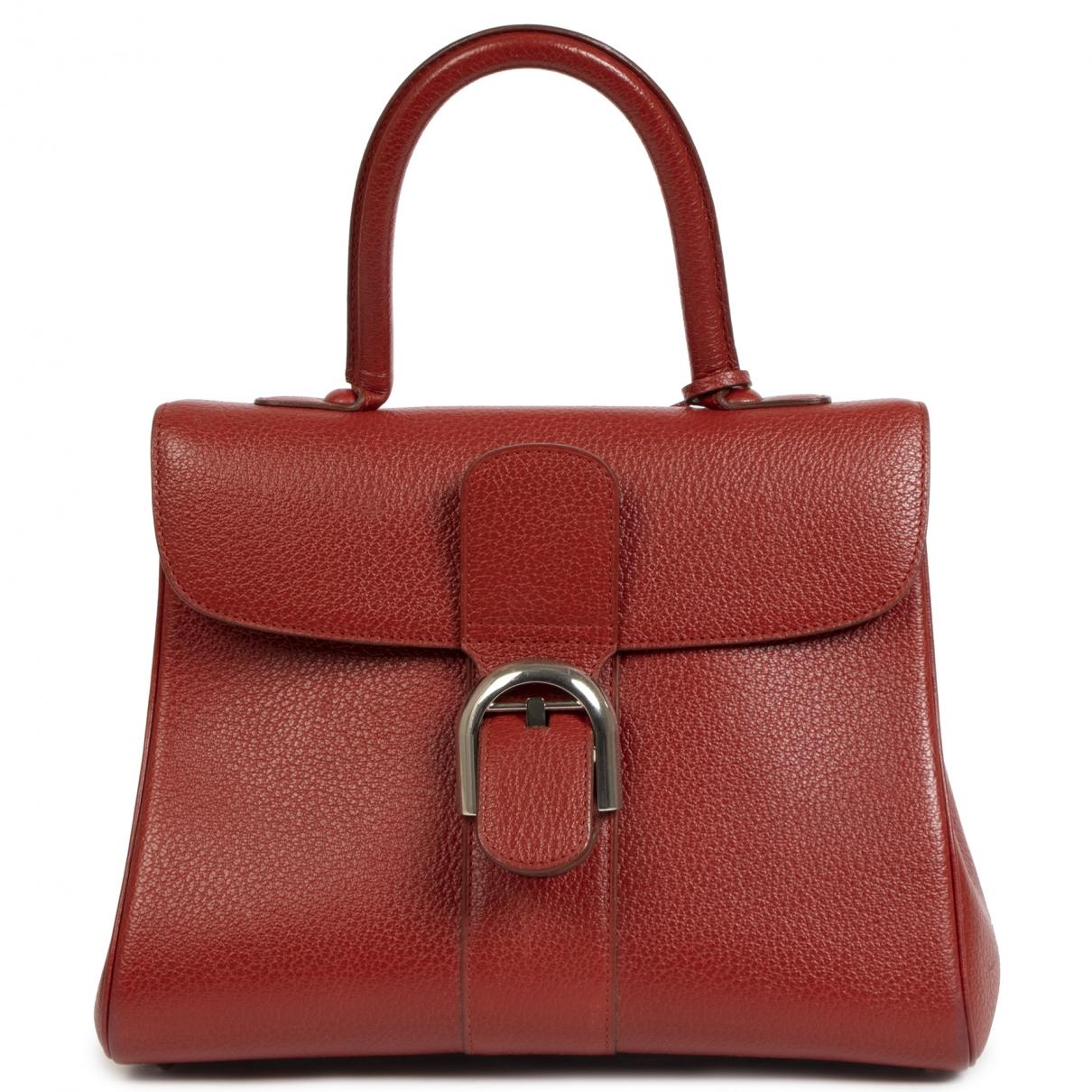 Delvaux Le Brillant Handtasche in  Rot Leder