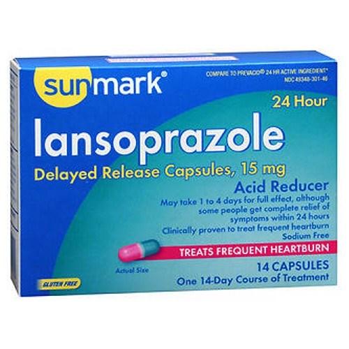 Sunmark Lansoprazole 24 Hour Acid Reducer Capsules 14 Caps by Sunmark