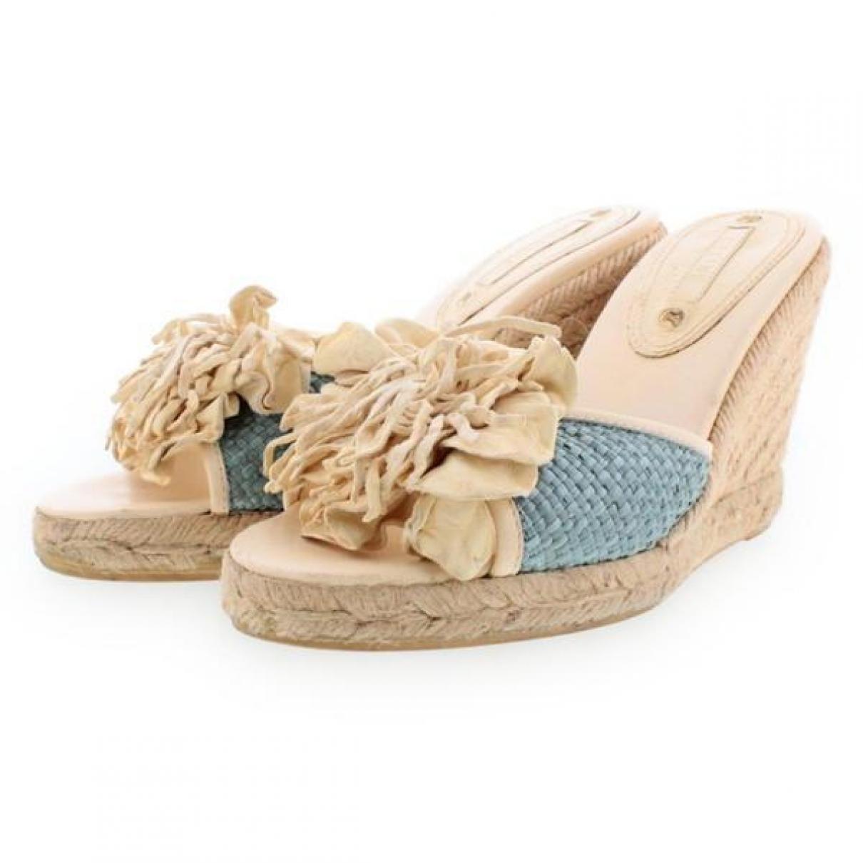 Celine - Sandales   pour femme en toile - beige