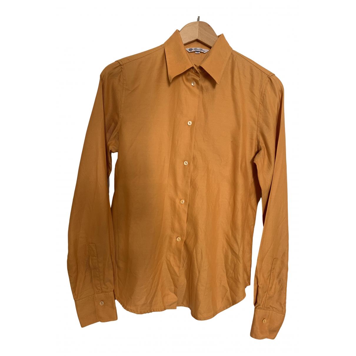 Loro Piana \N Orange Cotton  top for Women 42 IT