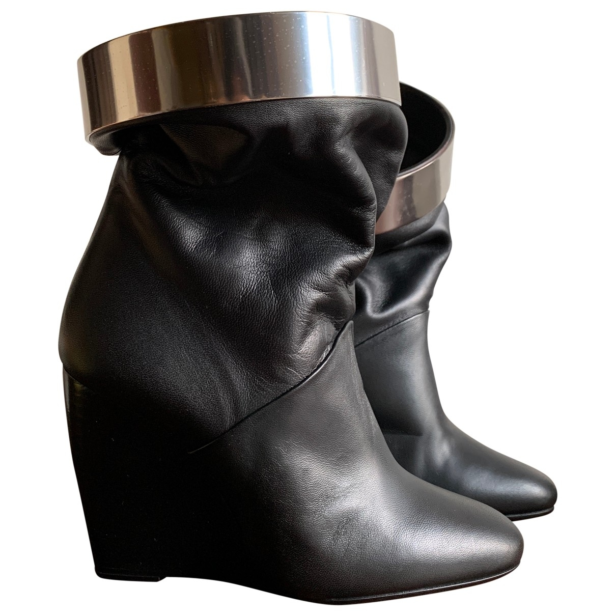 Pierre Hardy \N Black Leather Ankle boots for Women 36 EU