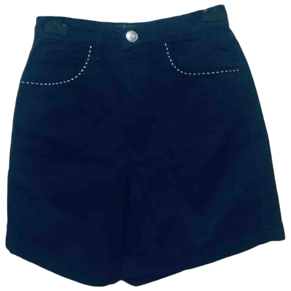 Fendi \N Shorts in  Marine Denim - Jeans