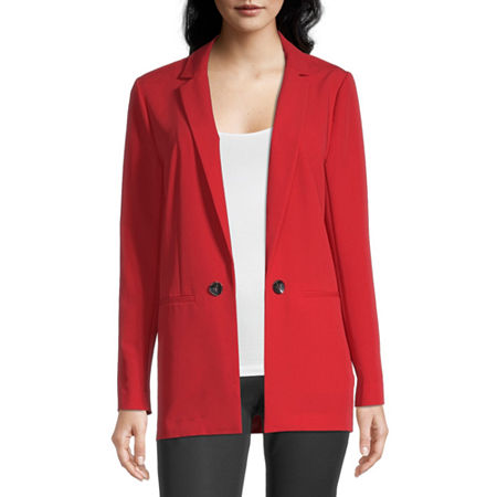 Worthington Womens Regular Fit Blazer, Small , Red