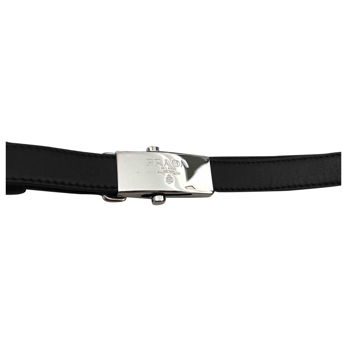 Prada \N Black Leather belt for Women M International