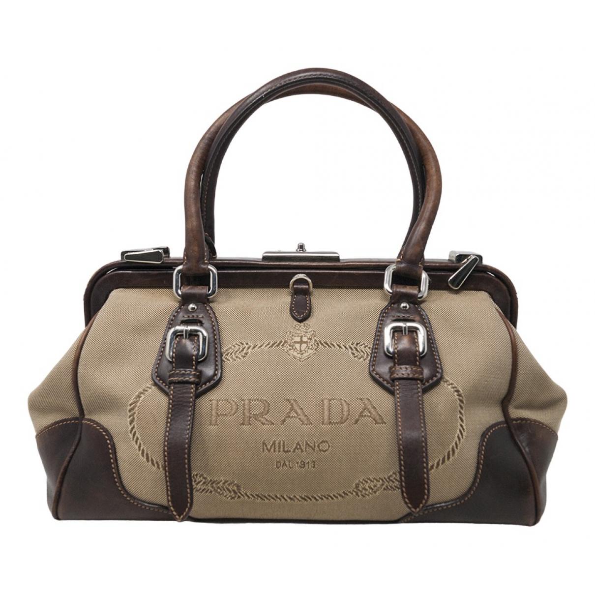 Prada \N Brown Cloth handbag for Women \N