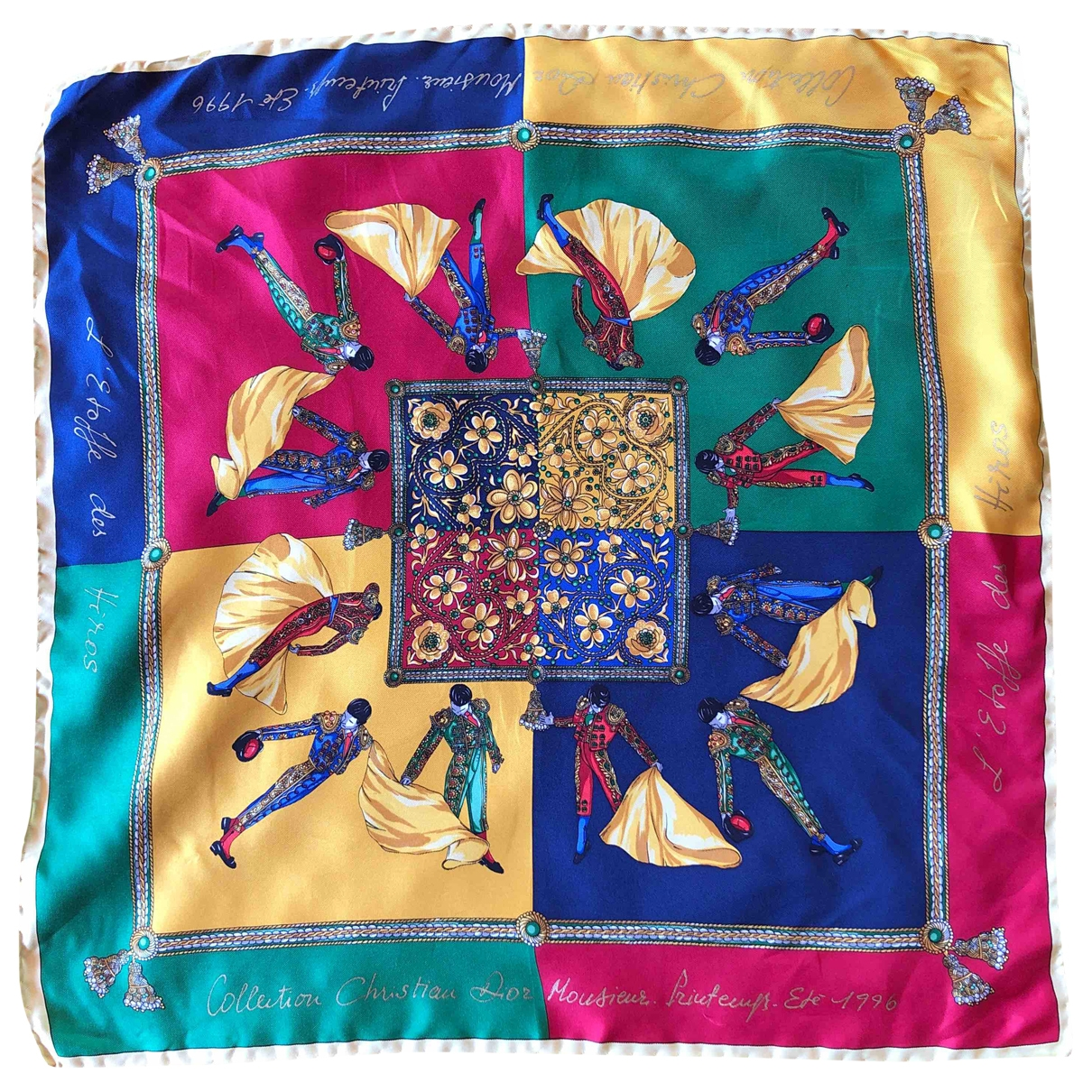 Dior \N Multicolour Silk scarf & pocket squares for Men \N