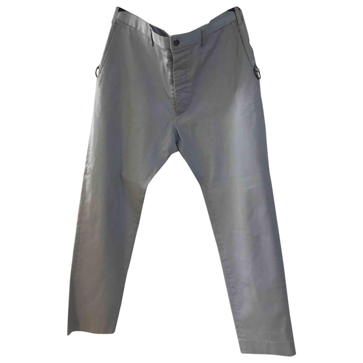 Vivienne Westwood \N Grey Cotton Trousers for Men 54 IT