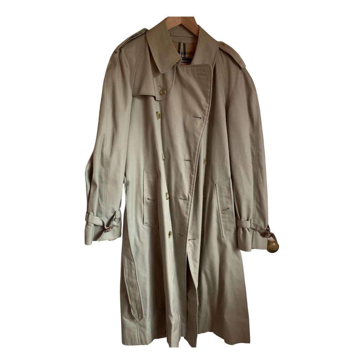 Burberry \N Maentel in  Beige Polyester