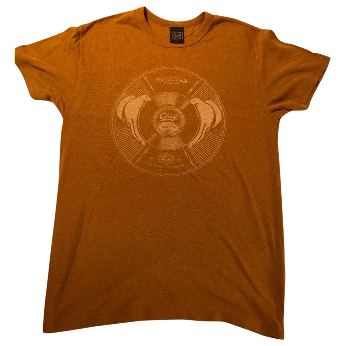 Obey \N T-Shirts in  Beige Baumwolle