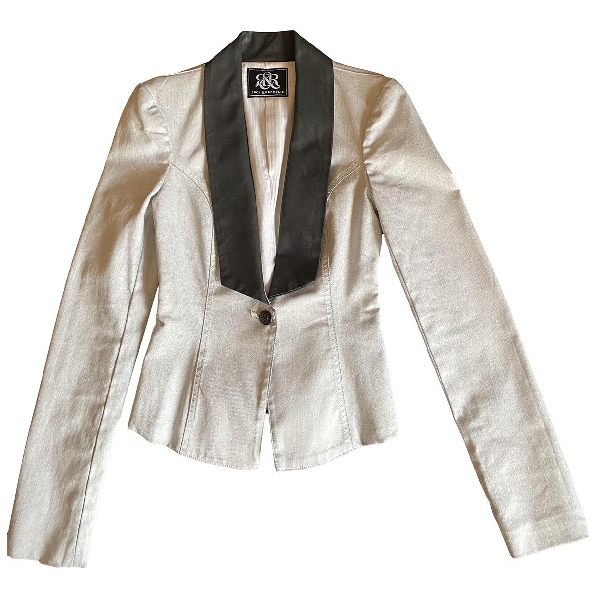 Rock & Republic De Victoria Beckham - Veste   pour femme en denim - gris