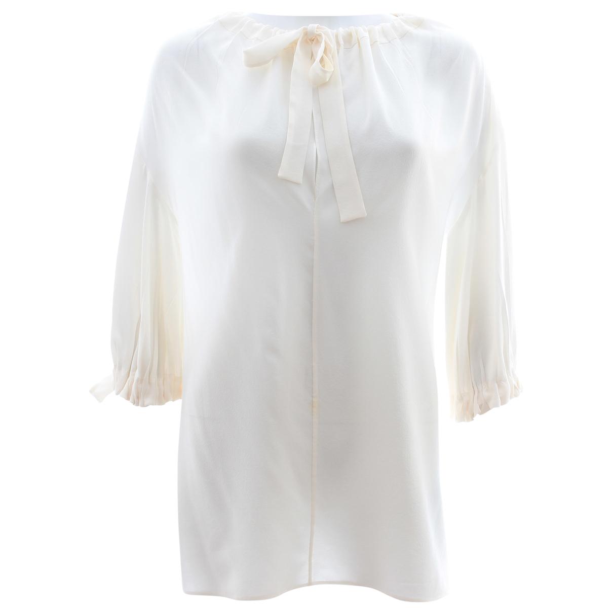 Prada \N White Silk  top for Women 10 UK