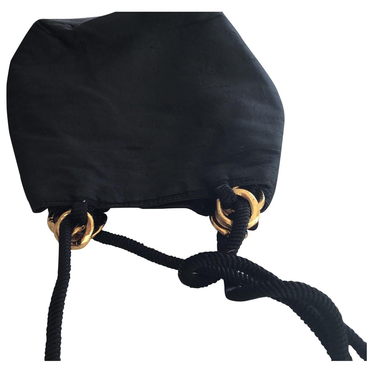 Yves Saint Laurent - Pochette   pour femme en soie - noir