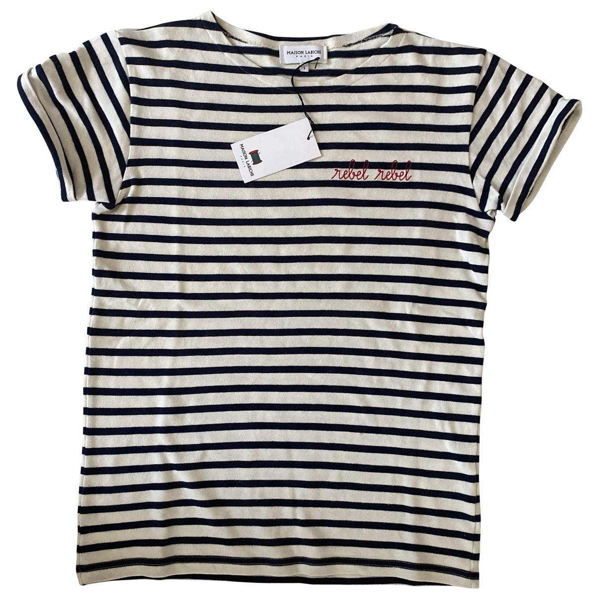 t-shirt en Algodon Blanco Maison Labiche