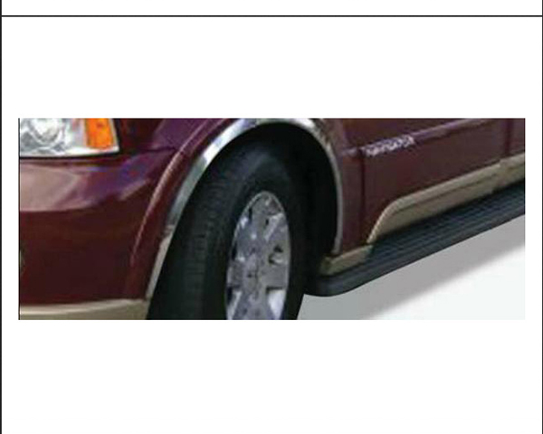 Quality Automotive Accessories 4-Piece Stainless Steel Wheel Well Fender Lincoln Navigator 2004