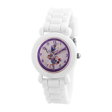 Disney Olaf Boys White Strap Watch-Wds000813, One Size , No Color Family