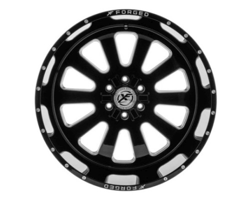 XF Off-Road XFX-302 Wheel 17x10 8x165.1|8x170 -12mm Black Milled Window