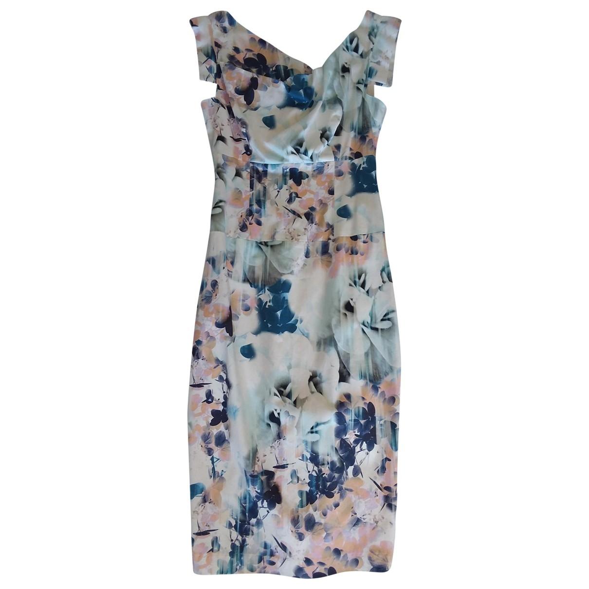Non Signe / Unsigned Epaulettes Kleid in  Bunt Baumwolle - Elasthan