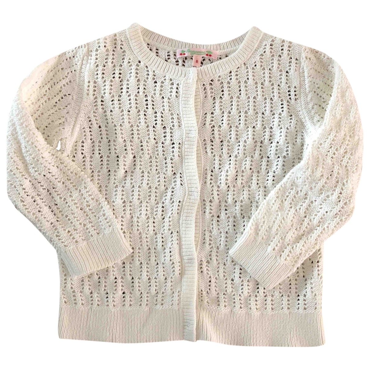 Bonpoint \N White Cotton Knitwear for Kids 8 years - up to 128cm FR