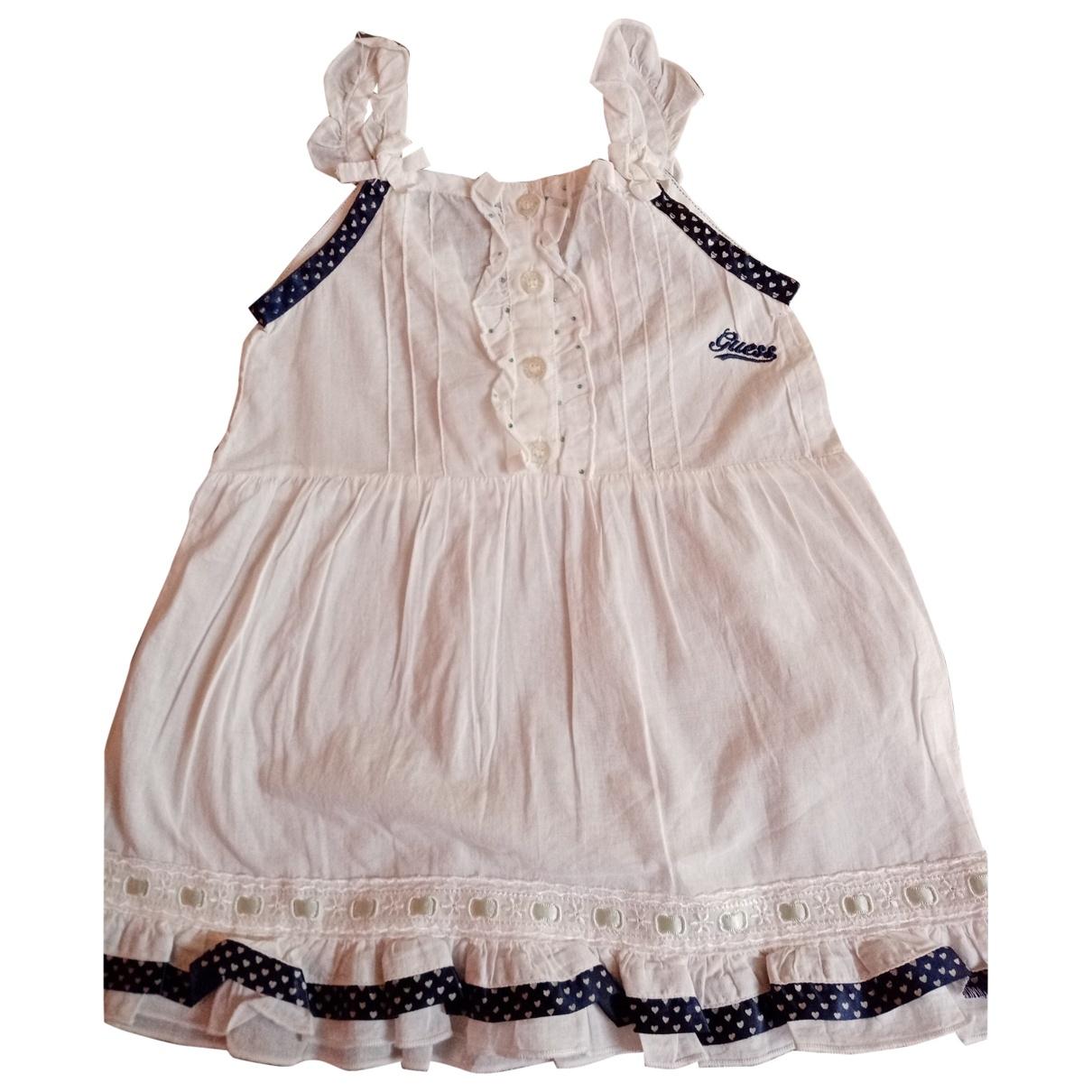 Guess - Robe    pour enfant en coton - blanc