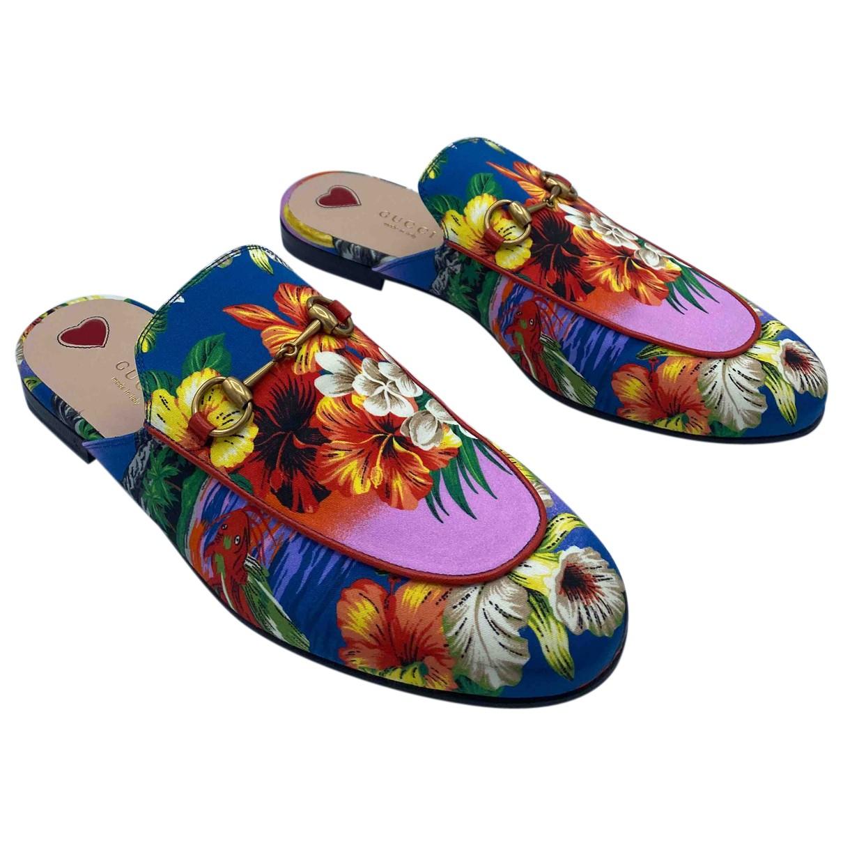 Gucci - Sabots   pour femme en toile - multicolore