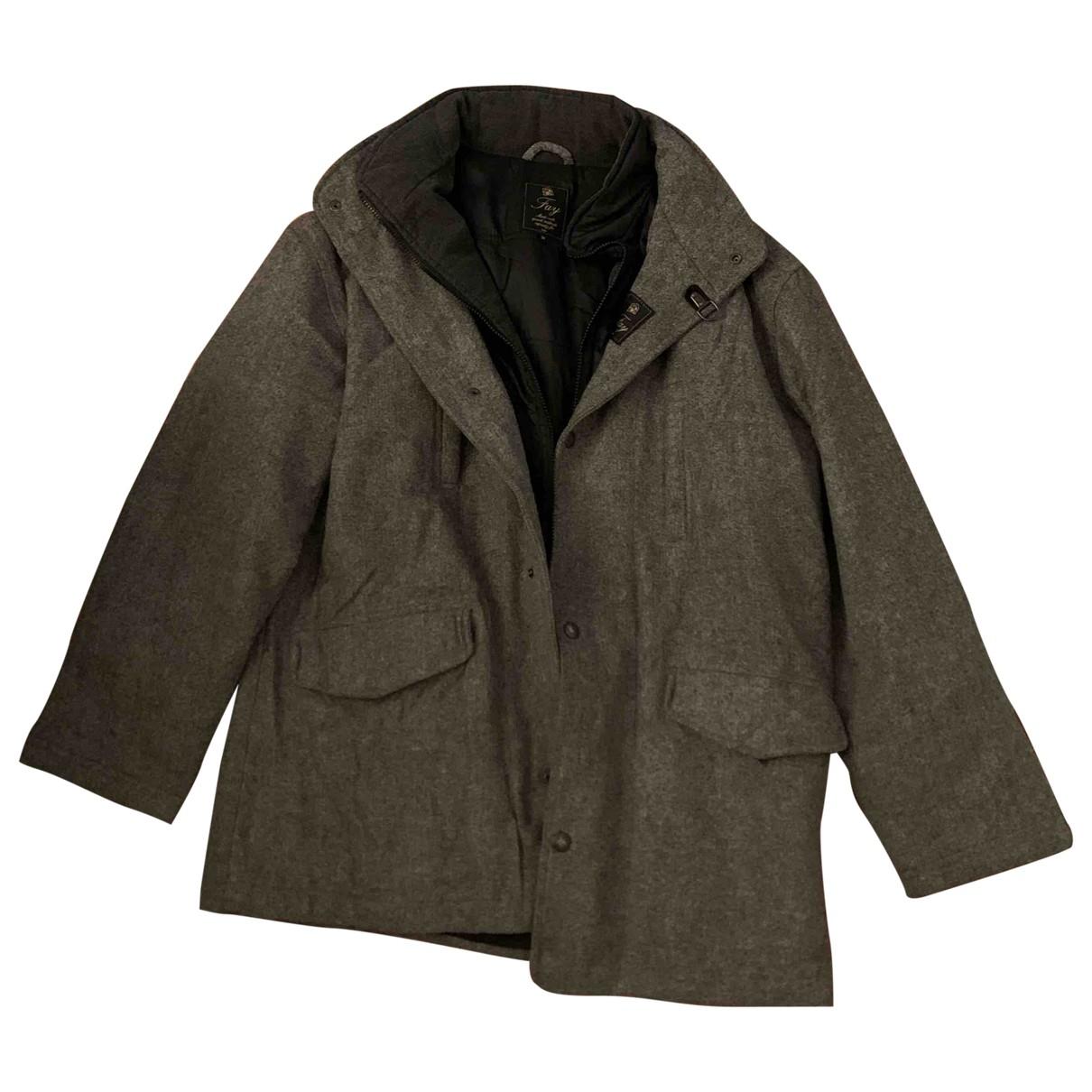 Fay - Manteau   pour homme en laine - gris
