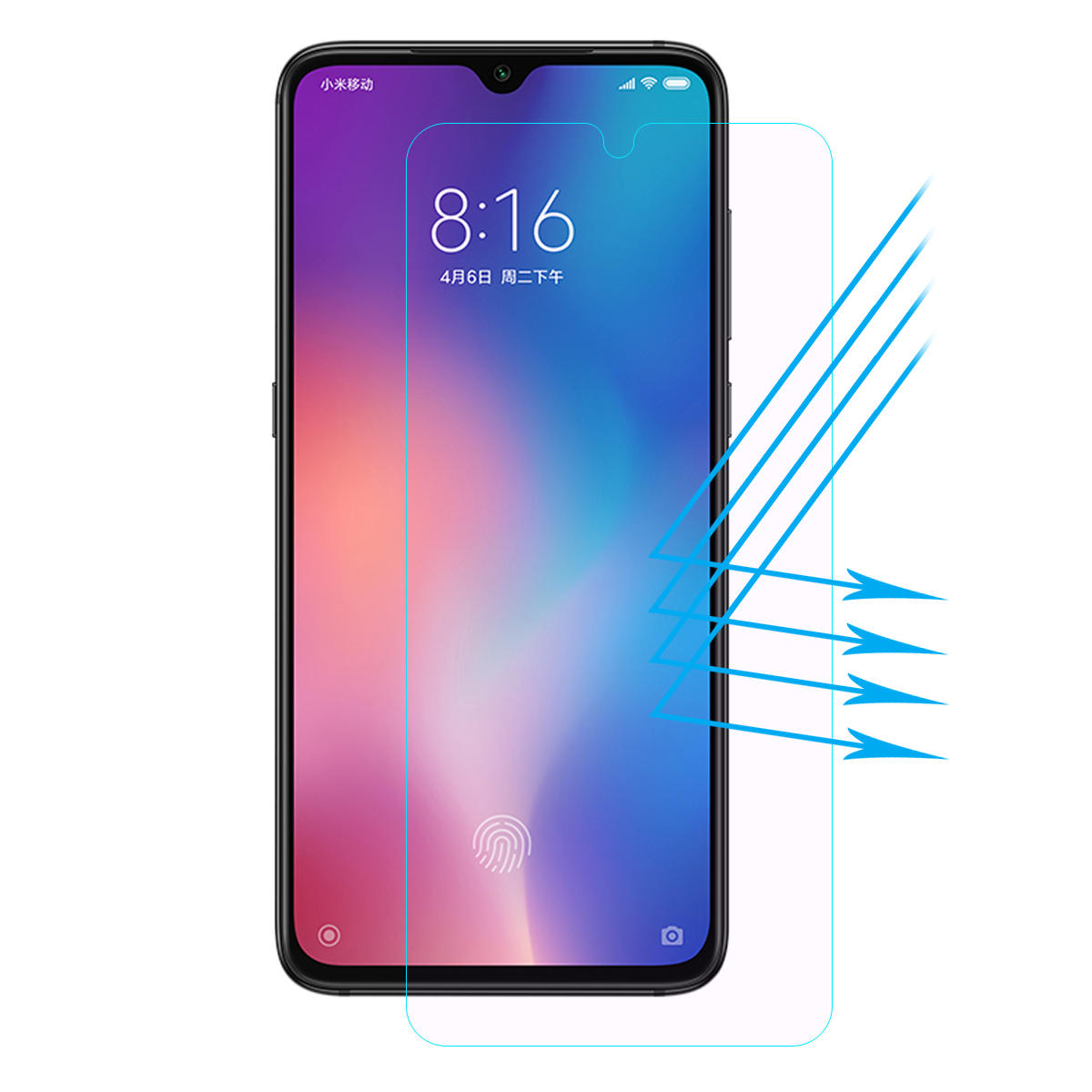 Enkay 9H Hardness 2.5D Anti-Bluelight Anti-explosion Tempered Glass Screen Protector for Xiaomi Mi9 / Xiaomi Mi 9 Transp