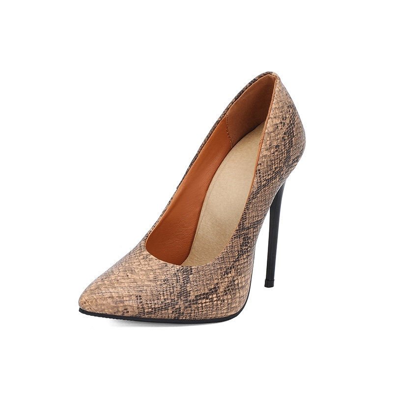 Ericdress Stiletto Heel Slip-On Serpentine Low-Cut Upper Thin Shoes