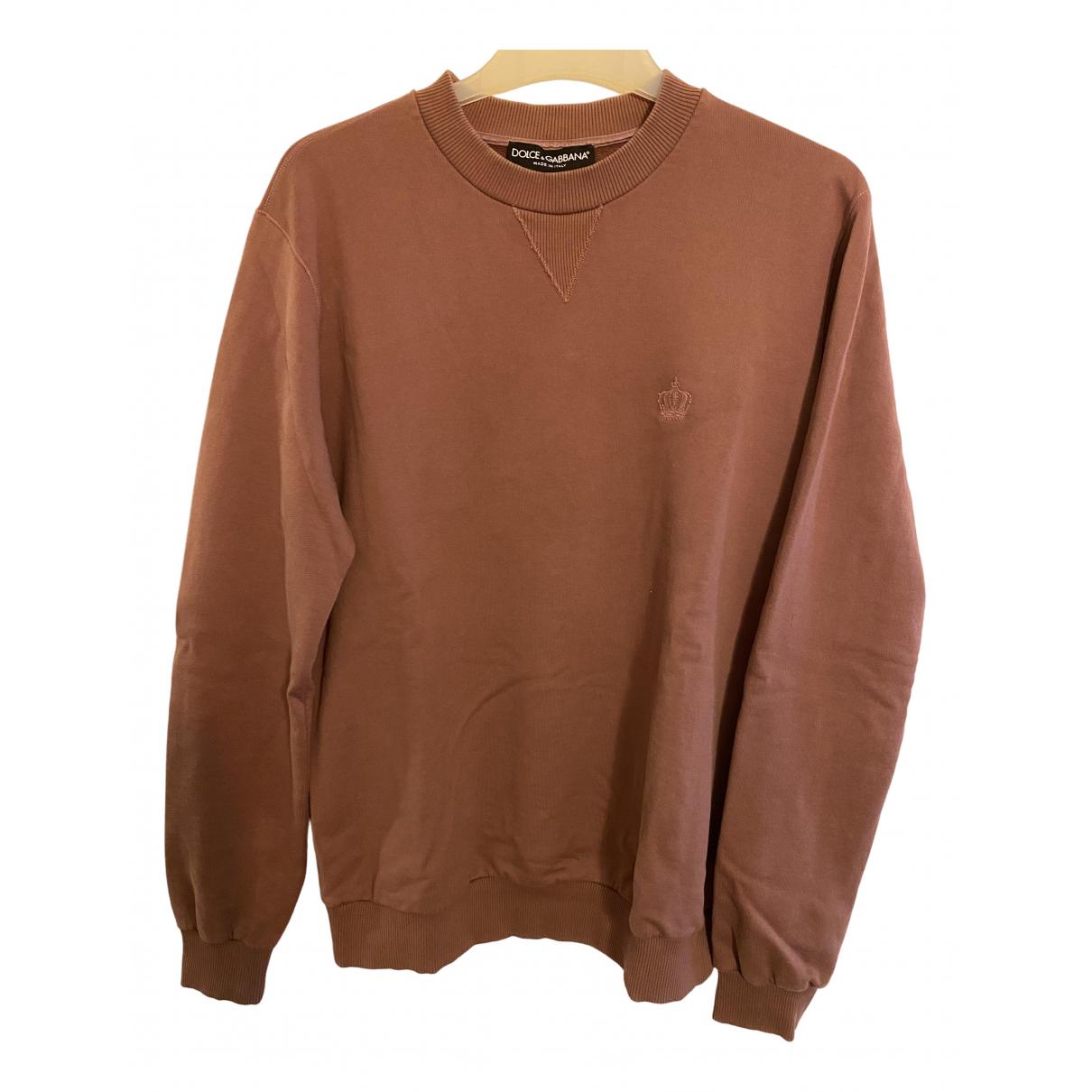 Dolce & Gabbana \N Pullover.Westen.Sweatshirts  in  Braun Baumwolle