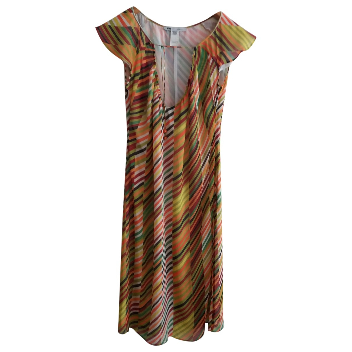 Non Signé / Unsigned \N Multicolour Silk dress for Women 42 IT