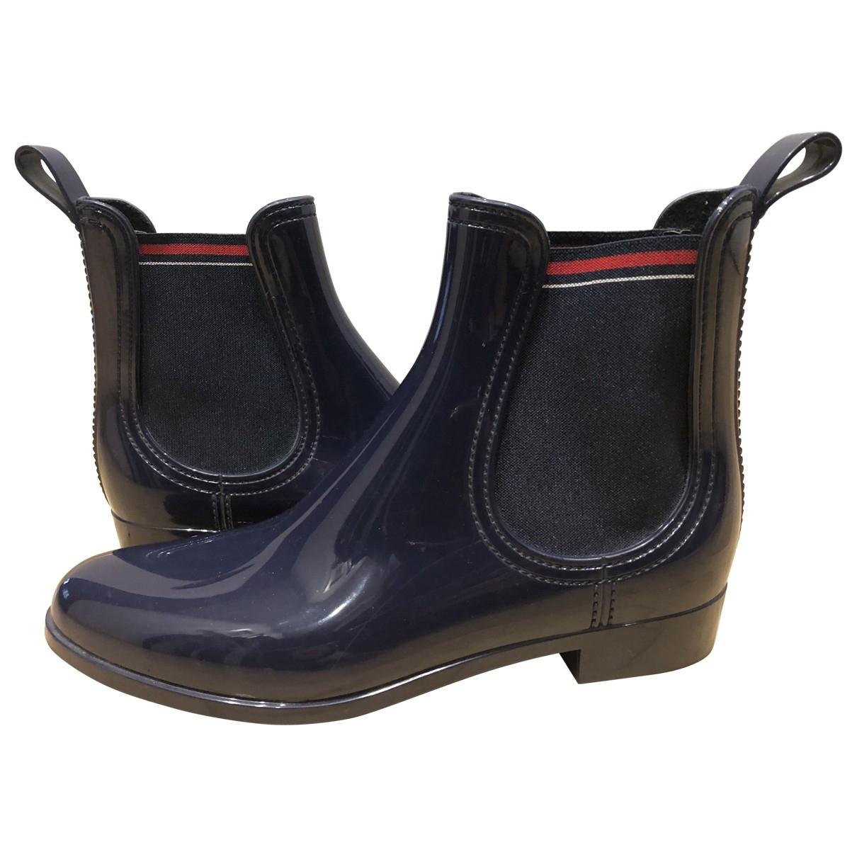 Gucci - Boots   pour femme en caoutchouc - bleu