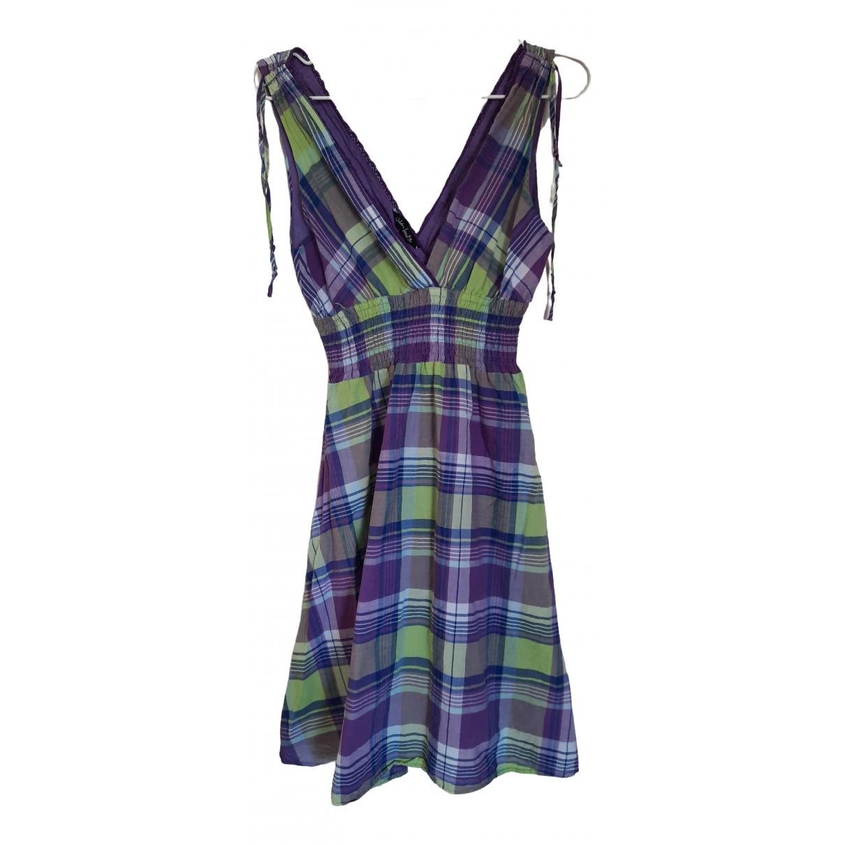 Non Signé / Unsigned \N Purple Cotton dress for Women L International