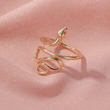 Snake Design Cuff Ring