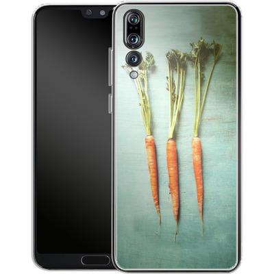 Huawei P20 Pro Silikon Handyhuelle - Three Carrots von Joy StClaire