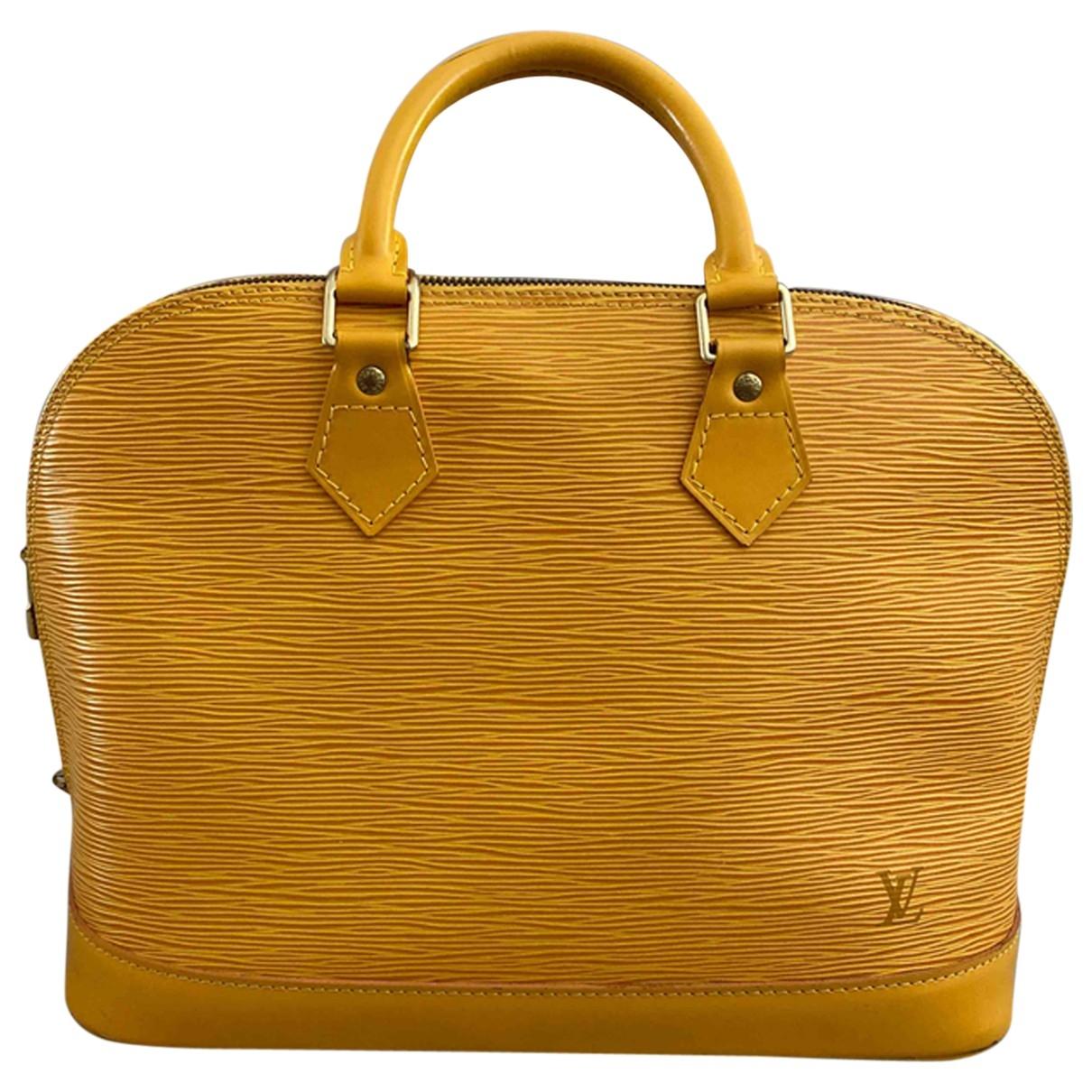 Louis Vuitton Alma BB Yellow Leather handbag for Women \N