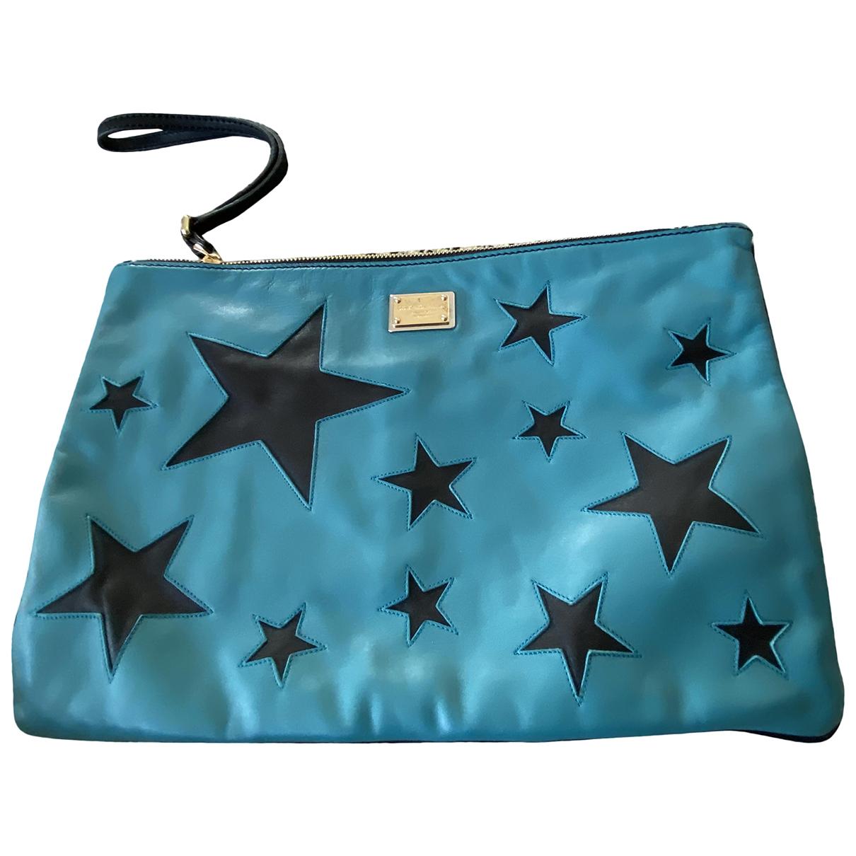 Dolce & Gabbana \N Blue Leather Clutch bag for Women \N