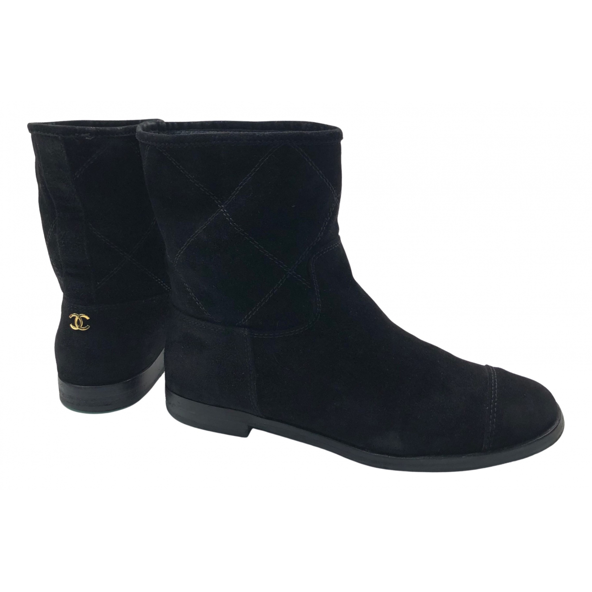 Chanel N Black Suede Ankle boots for Women 37.5 EU