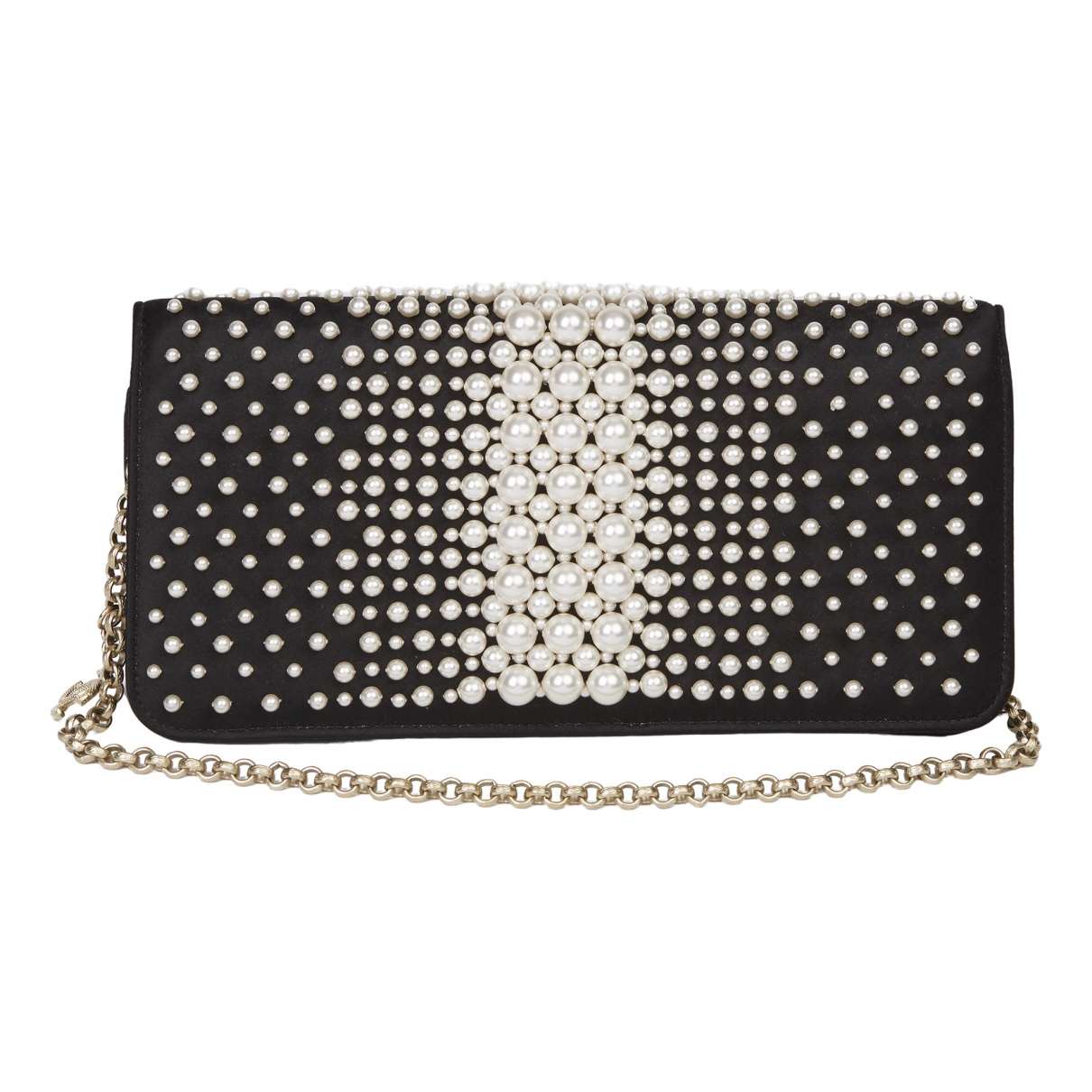 Chanel \N Clutch in  Schwarz Seide