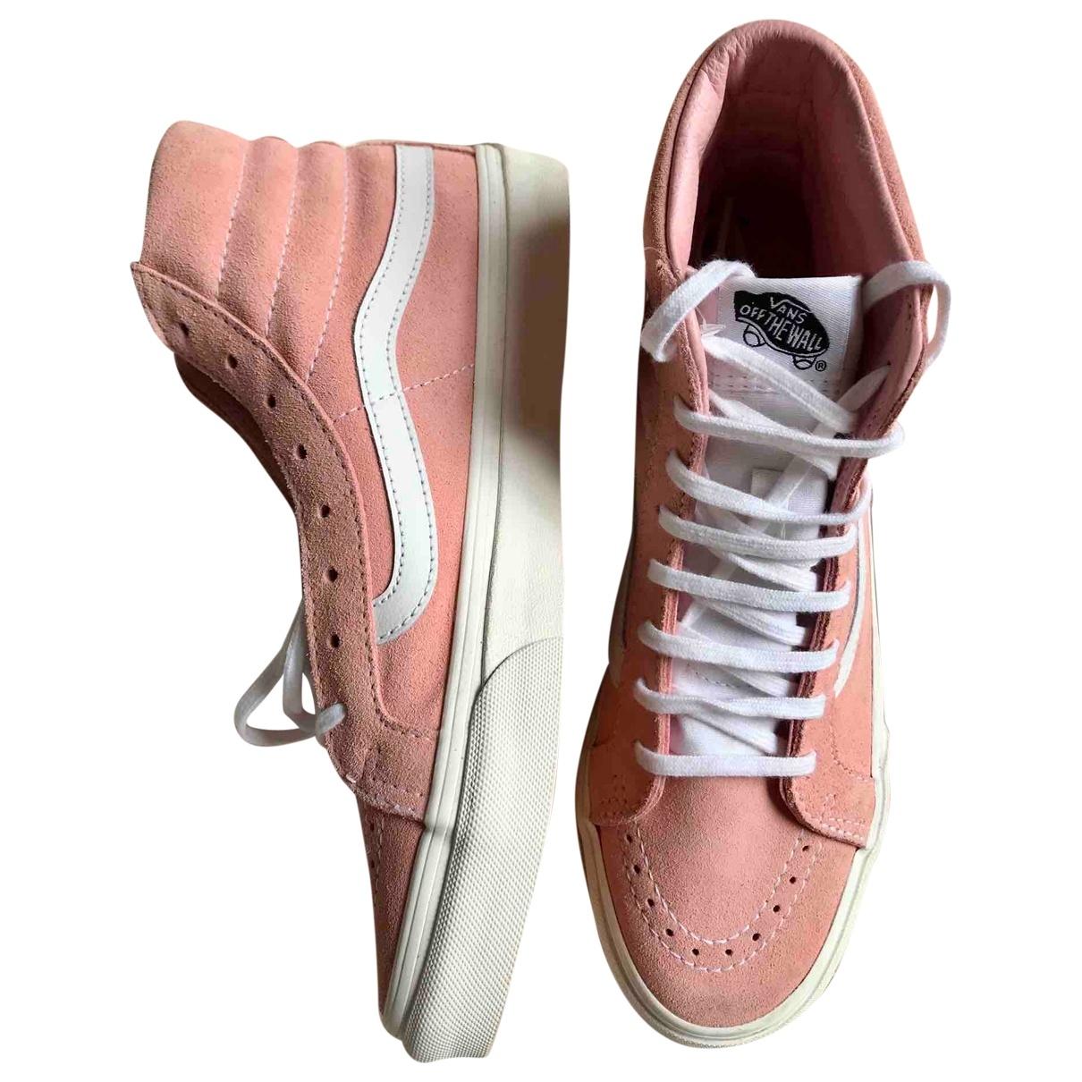 Vans \N Pink Suede Trainers for Women 6 UK