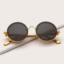 Maenner Runde formige Sonnenbrille
