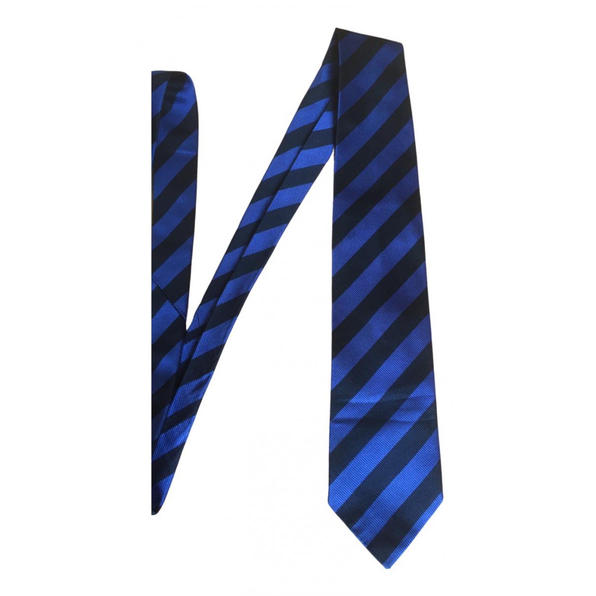 Celine - Cravates   pour homme en soie - bleu