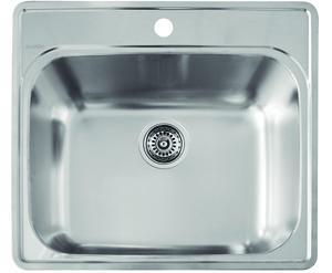 441078 Essential Stainless Steel Single Bowl (1-Hole) Laundry
