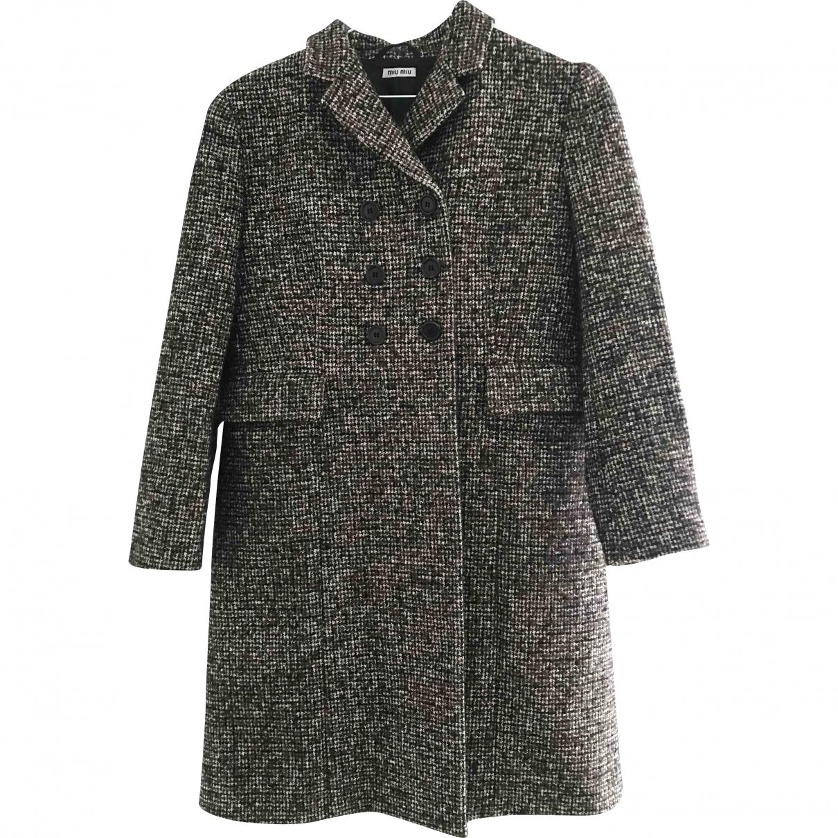 Miu Miu - Manteau   pour femme en laine - marron