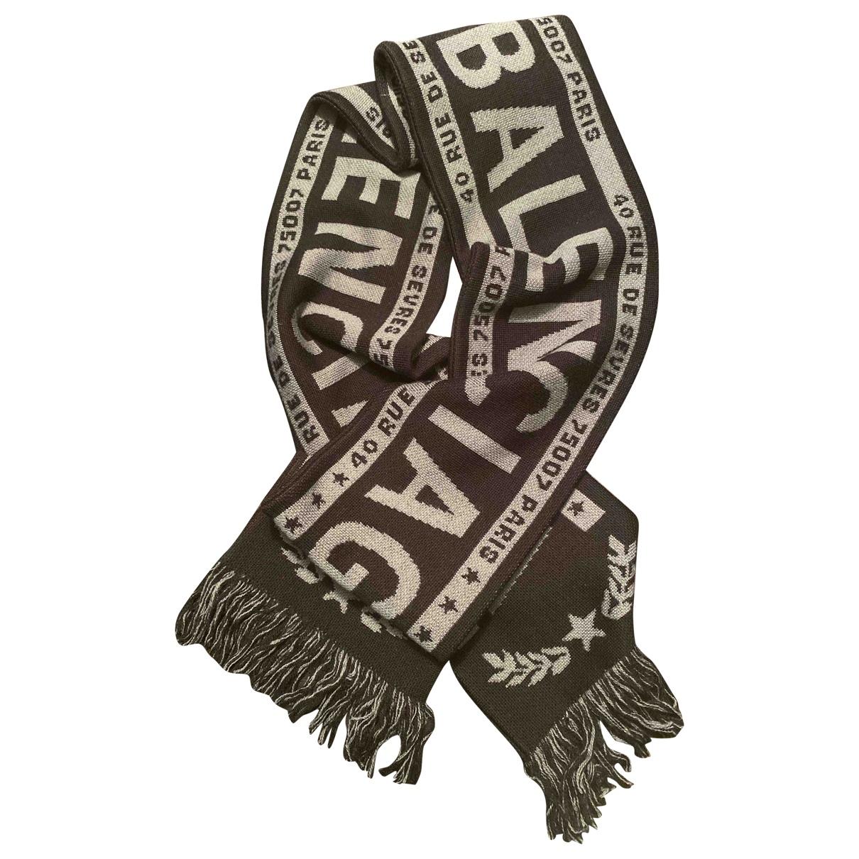 Balenciaga \N Black Wool scarf for Women \N
