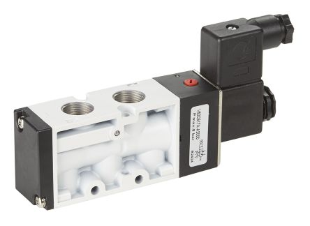 RS PRO Pneumatic Control Valve Solenoid/Air G 1/8 V50 Series
