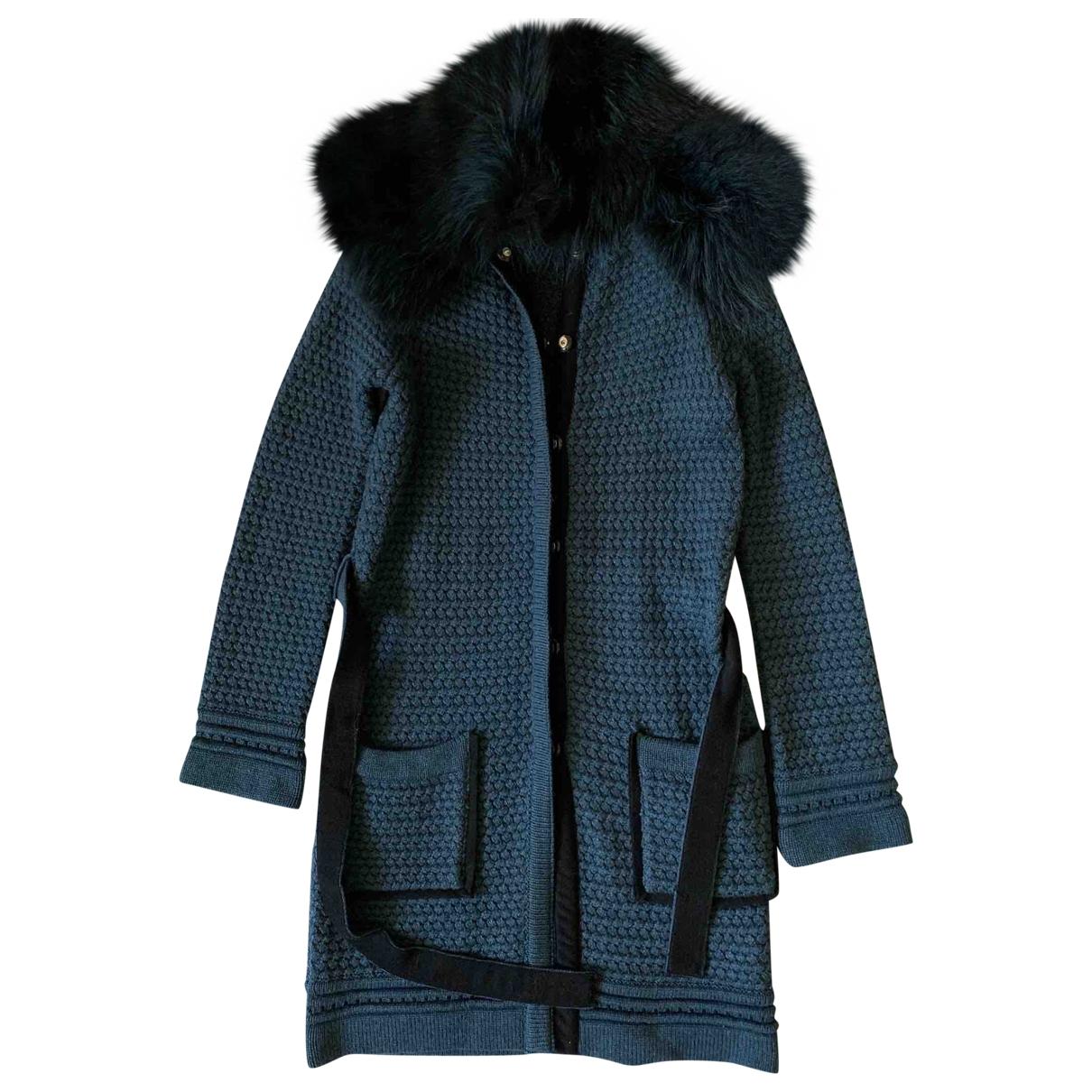 Roberto Cavalli \N Turquoise Wool coat for Women 38 IT
