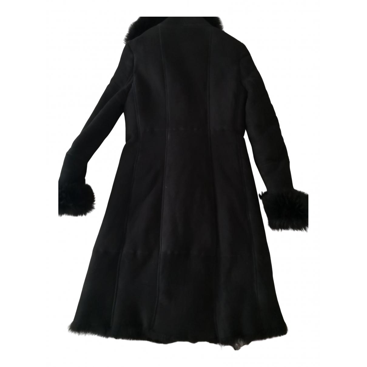 Patrizia Pepe - Manteau   pour femme en mouton - noir