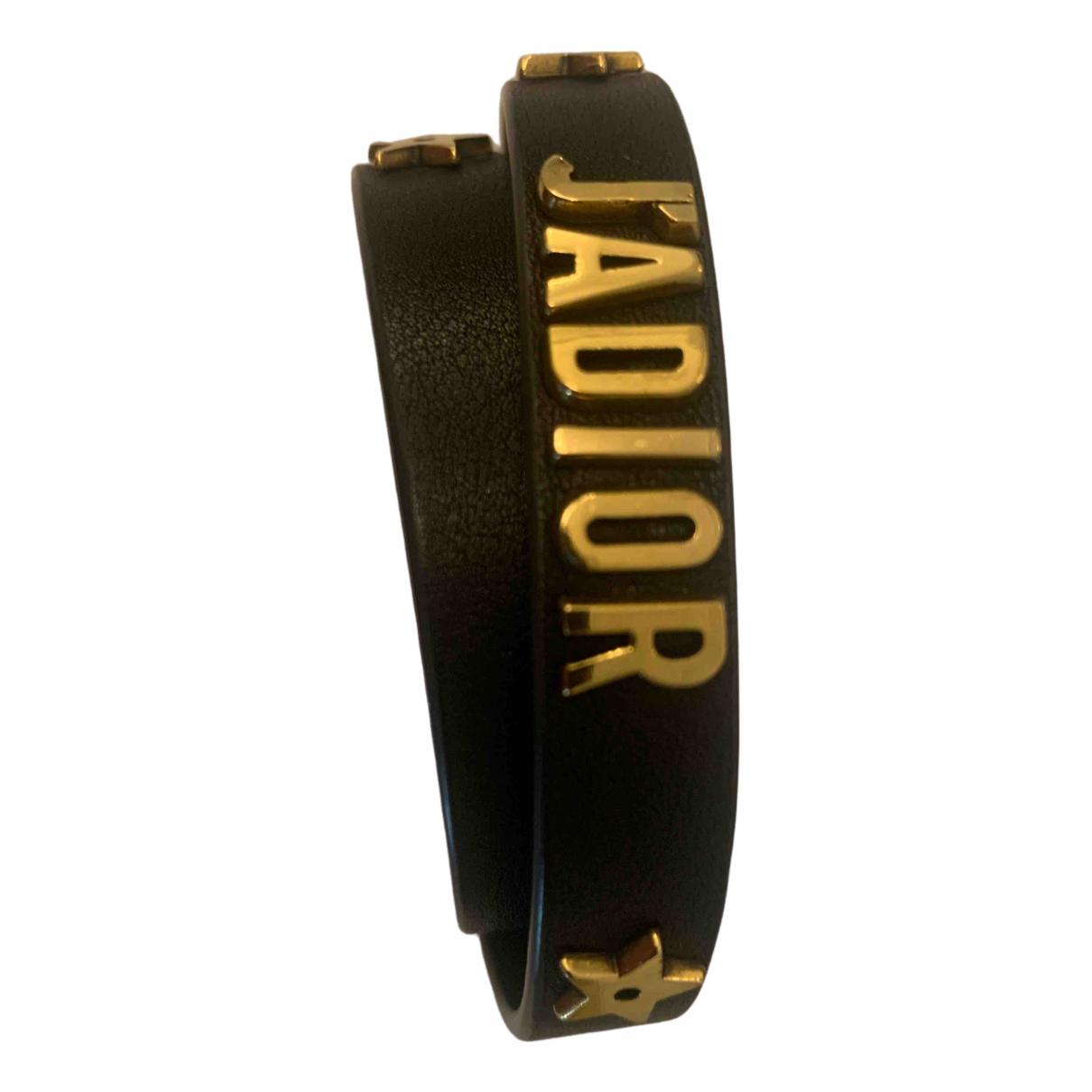 Dior \N Black Leather bracelet for Women \N