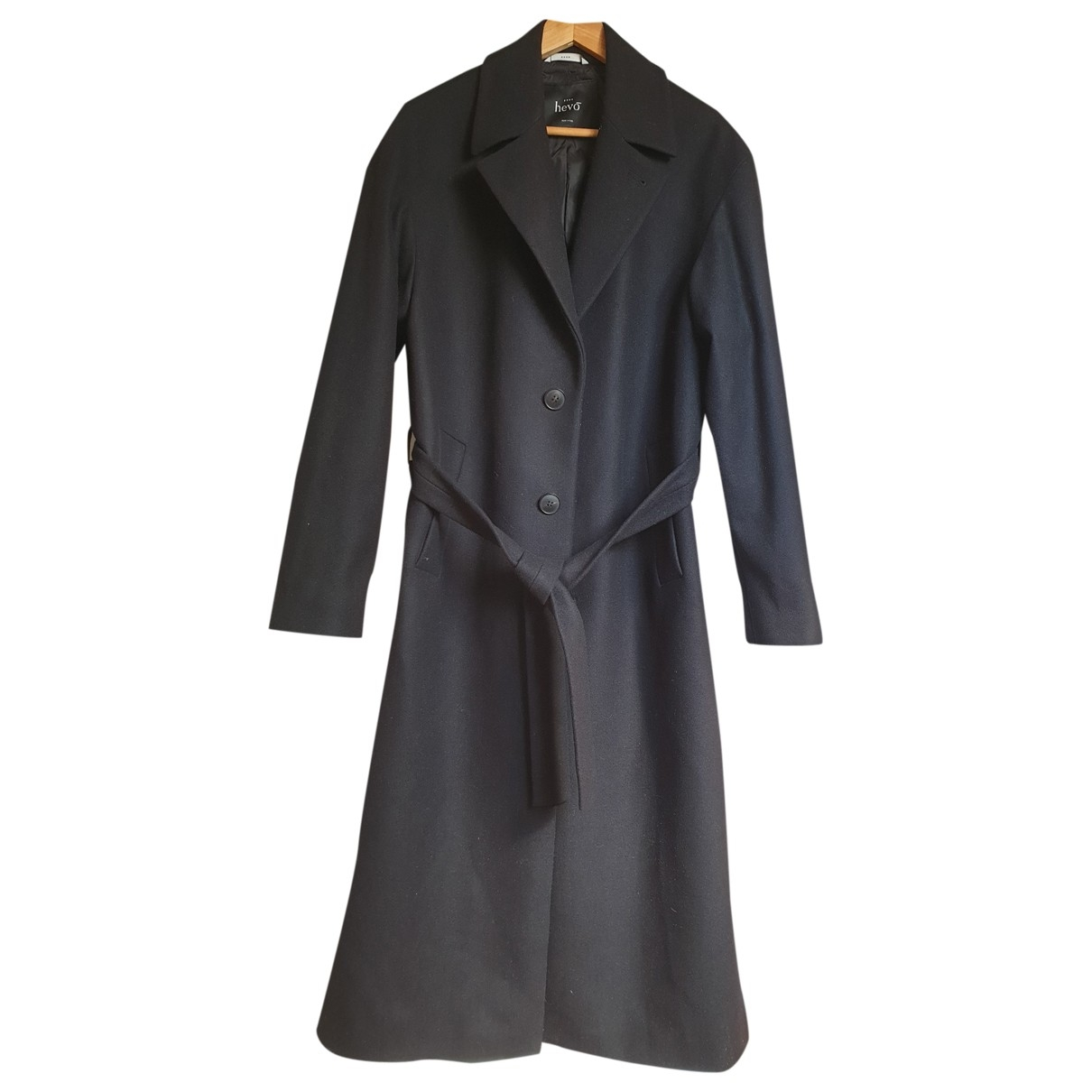 Non Signé / Unsigned \N Black Wool coat  for Men 46 IT