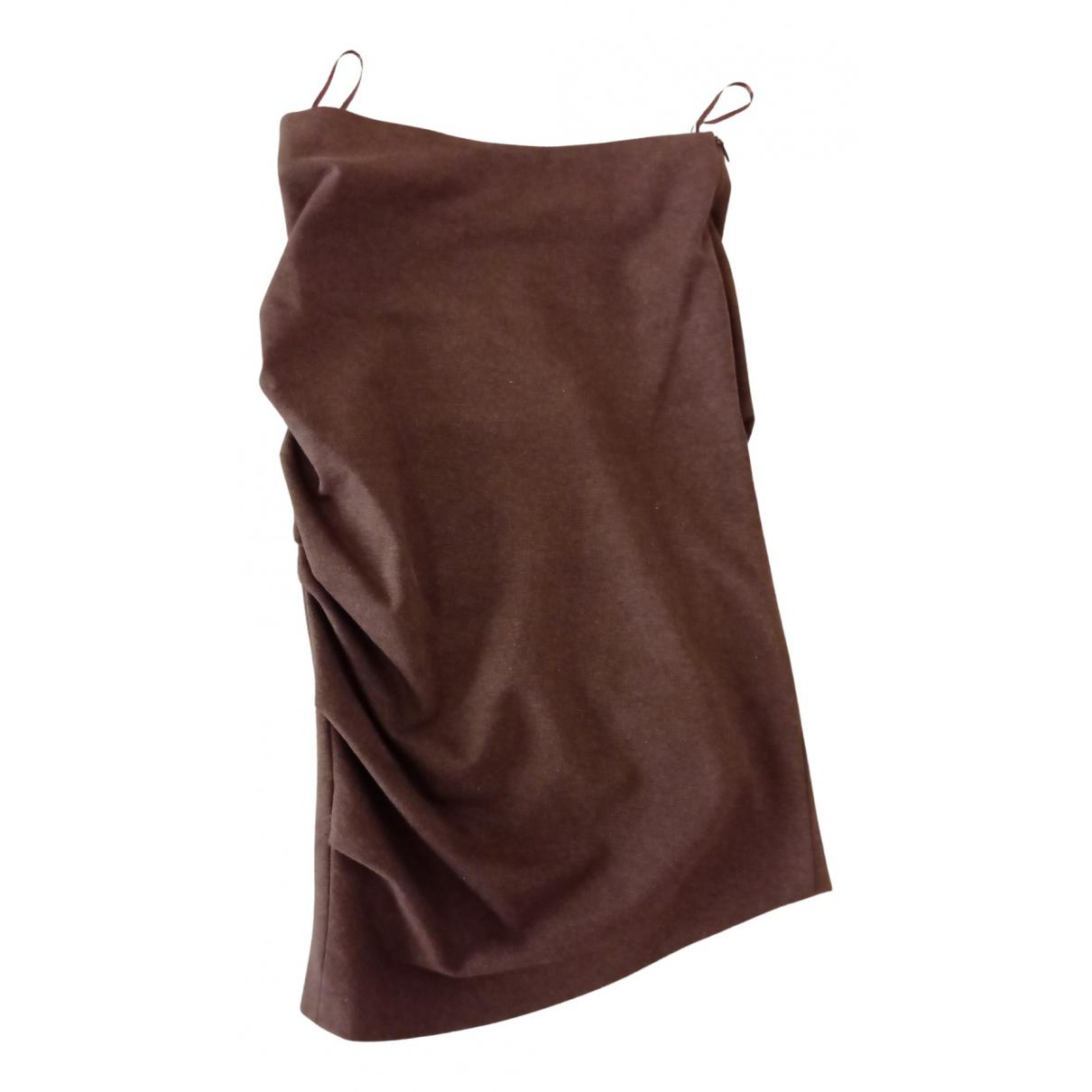 Brunello Cucinelli N Brown Cotton skirt for Women 38 IT